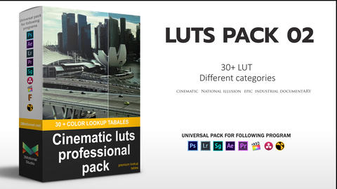 Cinematic Color LUT's Professional Pack Premiere Pro Effect Preset