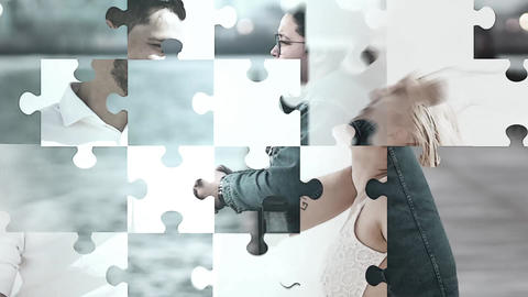 Puzzle Slide Show After Effects Template