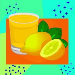 Lemon juice vector illustration on a colorful background Vector