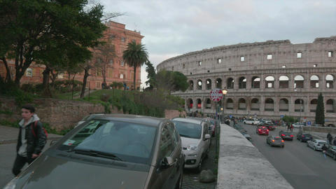 Overview of the Colosseum, Rome, in 4K Archivo