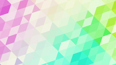 Colorful Slowly Animated Triangles Animation