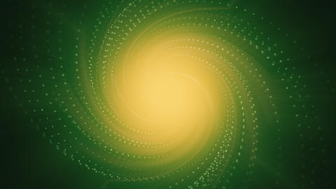 Animated Spiral on Yellow and Green Background Animation