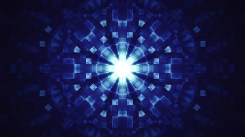 Blue Hi-Tech Kaleidoscope Background Animation