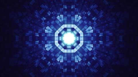 Blue Hi-Tech Kaleidoscope Background Stock Video Footage