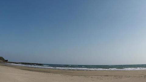 Sandy beach and sunshine ビデオ