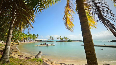 Bas du Fort beach in Le Gosier in Guadeloupe Live Action