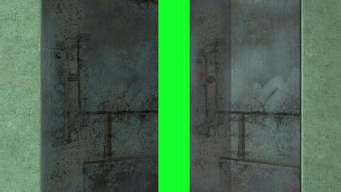 animation - sci fi door opening on green screen Animation