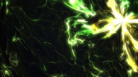 Bright green yellow liquid wavy fractal video animation Animation