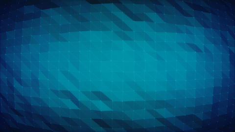 Dark Blue Polygonal Grid - Seamlessly Loopable Background Stock Video Footage