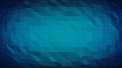Dark Blue Polygonal Grid - Seamlessly Loopable Background Animation