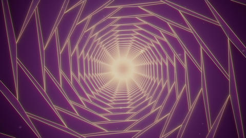 Retro Futuristic Velvet Tunnel Animation