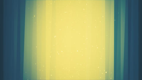 Shining Square Particles on Vertical Blue and Yellow Lines Animation