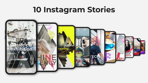 10 Instagram Stories After Effects Template