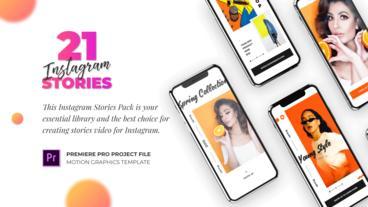 Instagram Stories Pack Mogrts モーショングラフィックステンプレート