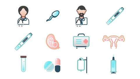 Medical Icons PNG +Alpha Animation
