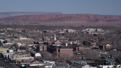 Shot of a desert city from a near hillside Footage