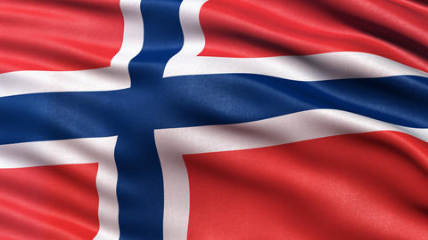 Norway flag seamless loop Animation