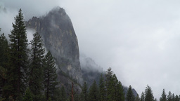 Time lapse view of ominous storm in Yosemite infront of El Capitan Footage