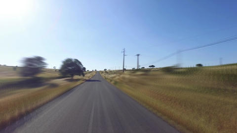 Speedy Driving on a Road in Countryside Footage