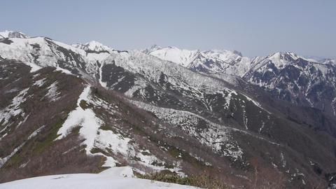 上越国境の山々 動画素材, ムービー映像素材