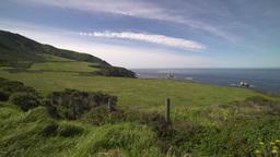 A crane shot of the lush coastline of Big Sur Footage