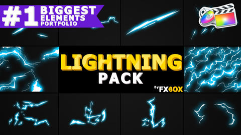 Flash FX Lightning Elements Apple Motion Template