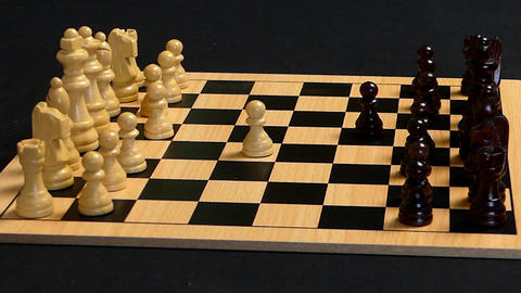 Chess Pieces Flung Into Opponent Footage