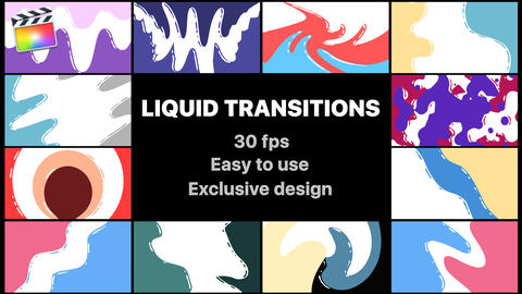 Flash FX Liquid Transitions Apple Motion Template