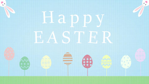 [alt video] Happy holiday Easter greeting card animation