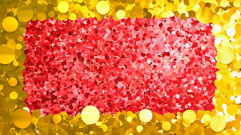 Glitter Circle Frame 4 Bc Gold 4k Animation