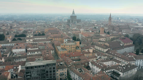 Aerial view of the city of Pavia, Italy Footage
