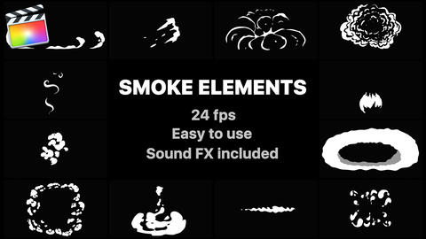 Flash FX Smoke Elements Apple Motion Template