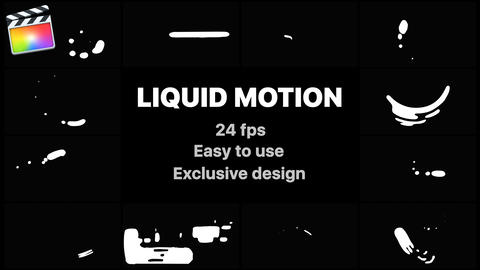 Liquid Motion Shapes Apple Motion Template