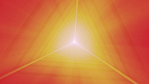 Shining Orange Triangular Tunnel Animation