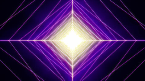 Violet Energetic Neon Rhombus Tunnel Animation