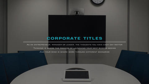 Corporate Titles After Effects Template