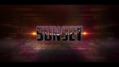 3D Sunset Logo After Effects Template