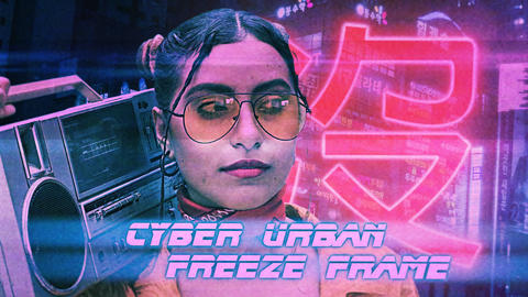 Cyber Urban Freeze Frame Opener Premiere Pro Template