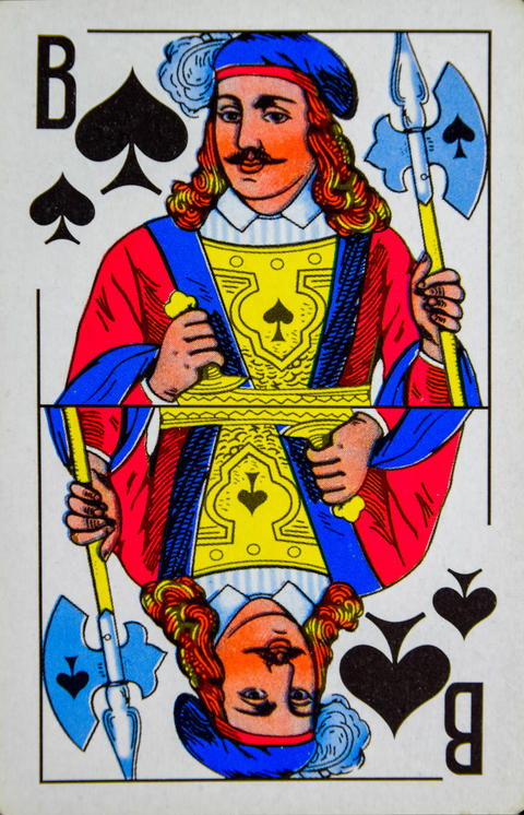 Card Jack of Spades, suit of spades Photo