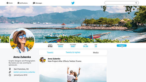 Twitter Promo After Effects Template
