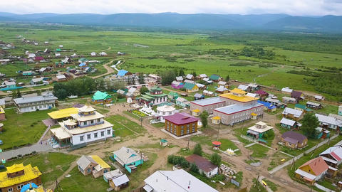Ivolginsky datsan. Buddhist Temple located in Buryatia, Russia. Was opened in 1945 as the Buddhist Live Action