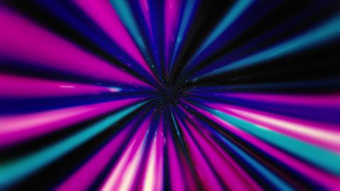 Neon VJ Rotating Wormhole Animation