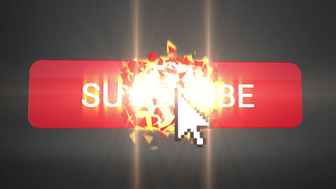3D Subscribe Explosion on Black Animation
