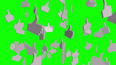 Raining Likes on Green Animation