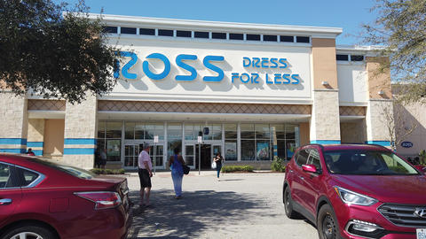 Ross Dress For Less Store Sign And Store In Davenport Florida Footage
