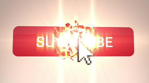 3D Subscribe Explosion on White Animation