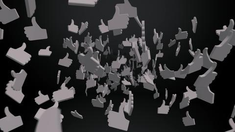 Flying through Likes on Black Animation