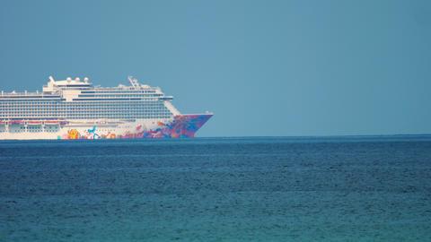 Genting Dream cruise ship near Phuket Footage