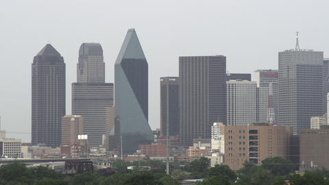 Shot of the Dallas skyline Footage