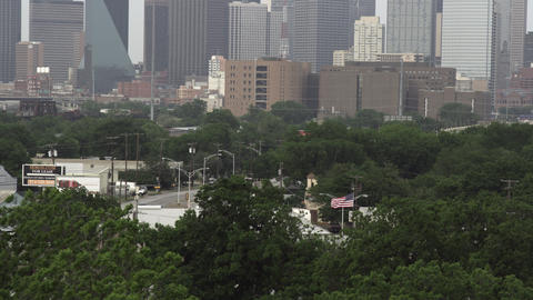 Dallas city with skyscrapers in the background Footage